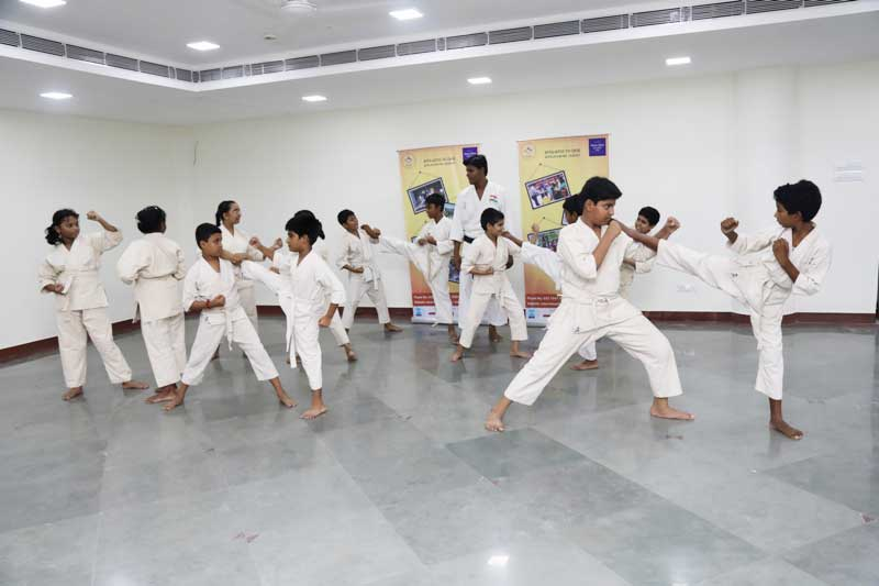 Students at Karate Classes